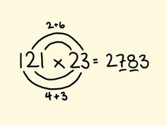 Fast Math Tricks - multiplication of two and three digit numbers. Fast Math Tricks - multiplication of two and three digit numbers. Math For Kids, Fun Math, Math Games, Math Activities, Multiplication Strategies, Math Strategies, Cool Math Tricks, Maths Tricks, Math Magic