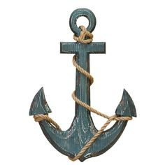 Decorate the walls of your nautical room with the Benzara Wooden Anchor with Rope Nautical Wall Accent . This wood anchor features a blue finish with. Anchor Wall Decor, Anchor Art, Wood Anchor, Ship Anchor, Nautical Wall Decor, Nautical Rope, Nautical Theme, Coastal Decor, Nautical Anchor