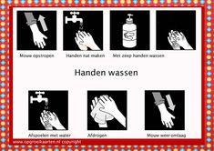 Diverse kaarten dagelijkse dingen als tafel dekken, handen wassen etc.