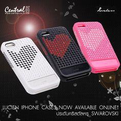 LUCIEN iPhone cases NOW Available Online! เคส iPhone 4/4s ดีไซน์เก๋ที่ฮิตในหมู่ดารา เคสประดับคริสตัลหรู Swarovski ด้วยเทคโนโลยี IS3 ให้คริสตัลติดทนไม่หลุดง่าย LUCIEN พร้อมรับประกันติดเม็ดคริสตัลให้ตลอดการใช้งาน ช้อปด่วน คลิก> http://www.central.co.th/th/products.php?bybrand=y==17019_source=facebook.com_medium=fbpost_campaign=20121003_lucien-iphone-cass