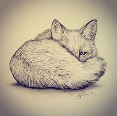 I really want a fox tattoo on my ribs one day. And it would probably look something like this. I love it so much! by elinor