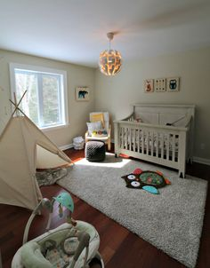 Woodland Themed Nursery with Teepee - Project Nursery