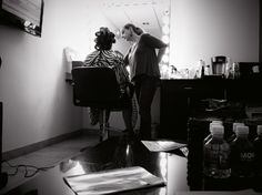 Hair and makeup is the best part of the behind the scenes experience @debbiefarah