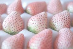 Pale pink strawberries