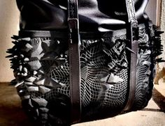 This Studded Leather Handbag is Infused with Selective Lasering Technology #3Dprinted #accessories trendhunter.com