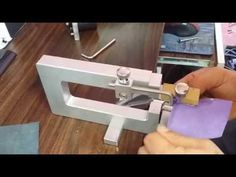 leather splitter & lace cutter(피할기&스트랩커터,레이스커터) - YouTube