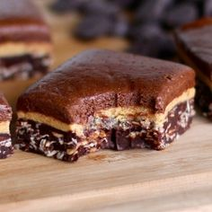 Triple-Decker Chocolate Peanut Butter Fudge ... a secretly healthy treat that will disappear before your eyes!