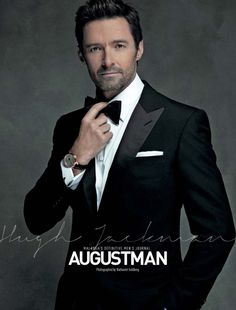Hugh Jackman Trades the X-Men for 'August Man': Photo Hugh Jackman looks dashing on the cover of August Man Malaysia's May 2014 issue, on newsstands now. The X-Men: Days of Future Past actor was photographed… Hugh Jackman, Hugh Michael Jackman, Les Miserables, Gorgeous Men, Beautiful People, Hugh Wolverine, Smoking, Photo Souvenir, Man Thing Marvel