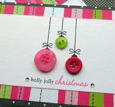 Aiden can help me make button Christmas greetings!