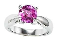 Star K 7mm Round Created Pink Sapphire Ring Size 9 *** For more information, visit image link.