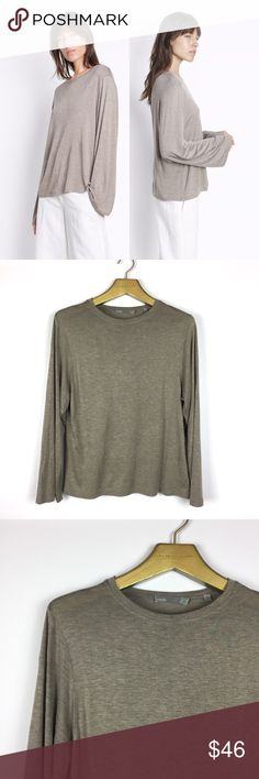 """VINCE. Full Sleeve Crew Neck Knit T-shirt \\ Sz XS VINCE """"Full Sleeve Crew Neck"""" shirt Size women's XS 100% viscose Gently preowned with no visible flaws - no stains, no holes, no fading  18.5 inches across bust 24 inches in length Vince Tops Tees - Long Sleeve"""