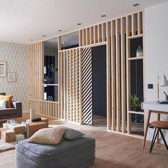 Simple Home Decor .Simple Home Decor Living Room Partition, Room Partition Designs, Casa Milano, Faux Walls, Sala Grande, Separating Rooms, Interior Design Inspiration, Cheap Home Decor, Home And Living