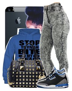 """""""STOP TRYNA BITE MY SWAG"""" by destinylove66 ❤ liked on Polyvore featuring MICHAEL Michael Kors and Retrò"""