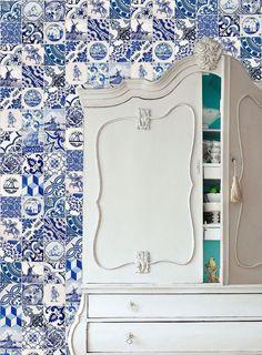 Tile antique replica - vintage decoration- Home Decor - Set 4 tiles Delft Blue | eBay