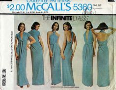 1970s The Infinite Dress Pattern McCall's 5360 by BessieAndMaive