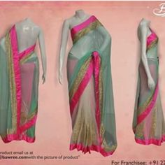 Saree that enhances womens beauty....perfect combination of colors....!!
