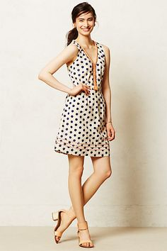 Pois Flared Dress #anthropologie #anthrofave