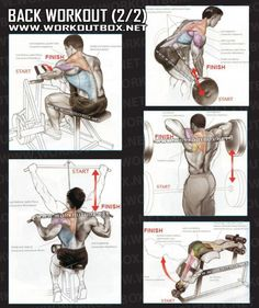 Back Workout Part 2 - Healthy Fitness Exercises Gym Low Shoulder - Yeah We Train !