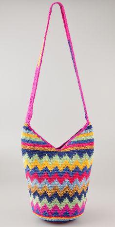 Zigzag Crochet Beach Bag by sweet.dreams