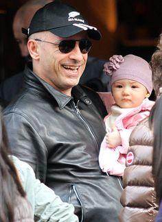 Eros Ramazzotti and his daughter Rafaella