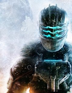 This is a photoshop render of Isacc Clark concept art by Jens Holdener for Dead Space 3. The thing I like about this piece of work is how Isacc has a small amount of frost building up on his armor as it shows what environment he is in. I could use this in my GDD as it shows that I understand what would happen in certain environments (snow build up in snow, sand in desert)