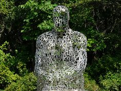 close up of I, you, she or he by Jaume Plensa (Frederik Meijer Gardens & Sculpture Park)