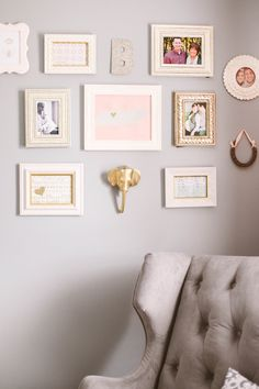 Peach, Gold, and Gray Shower | The Little Umbrella