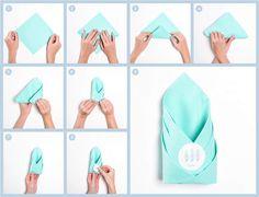 dobradura de guardanapo de papel como fazer