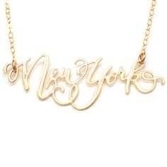 New York City Necklace by Brevity