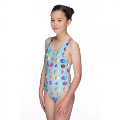 ce6edf24c8 Maru Girls Turquoise Candy Pacer Swimming Costume Swimsuit Swimming Costume