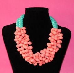 Pink & Teal Necklace