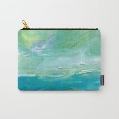 Ocean Breeze Carry-All Pouch by laurimatisse Matisse, Breeze, Carry On, Zip Around Wallet, Coin Purse, Pouch, Ocean, Purses, Fun