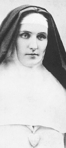 @MsEthy14: Venerable Mother Mary of the Divine Heart from the Order of the Sisters of the Good Shepherd. Her body is incorrupt. She asked Pope Pius XIII to consecrate the world to the Sacred Heart of Jesus as He requested her to do.