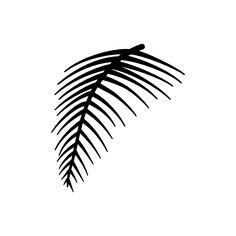 einfaches Palmwedel Motiv als Plotterdatei zum Plotten aus beliebigen Materialien (Fotokarton, Vinyl-, Flexfolie...) zum Gestalten eigener Karten oder zum Dekorieren deines zu Hauses.