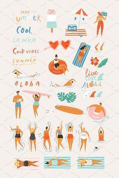 Best summer ever graphic set by Tasiania on @creativemarket