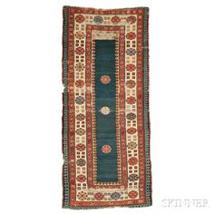Talish Rug, South Caucasus, third quarter 19th century, 7 ft. 8 in. x 3 ft. 5 in.   Skinner Auctioneers Sale 2752B