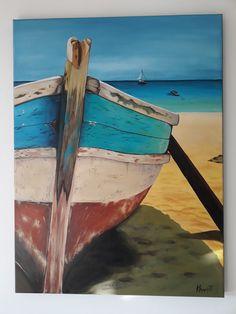 ''Tai Boat'' acrylic on canvas 60x90 by Anna Baramati