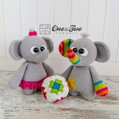 "Dash and Dot the Little Elephants ""Little Explorer Series"" Amigurumi - PDF Crochet Pattern - Instant Download - Amigurumi Cuddy Stuff"