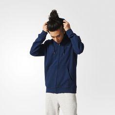 adidas Premium Essentials Hoodie - Blue   adidas UK