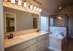 Luxurious master bathroom with Italian marble in Deer Creek Village | 6300 NW 155th St., Edmond, OK