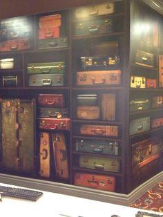 Dream storage: Suitcase Wall