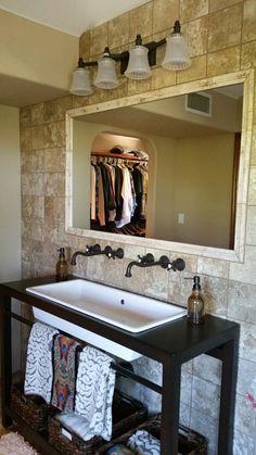 Porcelain tile bathroom Tile Installation, Carpet Tiles, Porcelain Tile, Hardwood, Bathroom, Washroom, Natural Wood, Carpet Squares, Full Bath