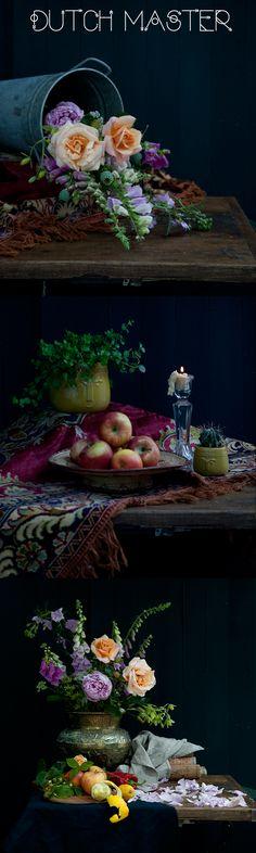 Dutch Master Style photos, floral photography, still life, photos by Janice Issitt.