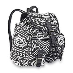 e7e07b028c1f Bongo Junior s Flap-Front Canvas Backpack - Tribal Print from Kmart. New  School Bags