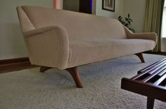 Sexy Mid Century Danish Modern Teak Sofa Couch