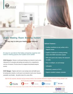 Why Users need to Wireless #MeetingRoom Booking System- #JOAN In any organization meeting is one of the most common or necessary task. There is no matter organization is small or big. If meeting room is one, it is very easy to book or schedule meetings one by one else users have to face different kinds of issues to book meeting rooms. It is most complicated to note down all meetings rooms booking timings.