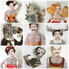 Paper doll art - very cool!