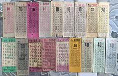 Old bus tickets of Singapore Bus Service Ltd, United Bus Co., (Pte) Ltd, Amalgamated Bus Co. History Of Singapore, Singapore Photos, Old Pictures, Old Photos, Singapore Public Transport, Photographs And Memories, Vintage Props, Bus Tickets, Love Design