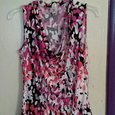 Fun, Colorful Tank, Size M This is a fun & colorful silky-feeling tank that's perfect for dressing up or dressing down! Very versatile! NWOT, not worn. Worthington Size Medium. Worthington Tops Tank Tops