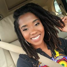 #thicklocs • Instagram photos and videos Curly Hair With Bangs, Hairstyles With Bangs, Curly Hair Styles, Natural Hair Styles, Pretty Hairstyles, Girl Hairstyles, Dreadlock Styles, Dreadlock Hairstyles, Locs Styles
